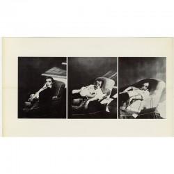 """triptyque d'Urs Lüthi """"Autoportrait à la chaise"""", 1975"""