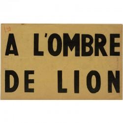 """""""À l'ombre de lion diffamé ..."""" tract surréaliste, 1951"""