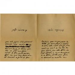 Francis Picabia pour Pierre-André Benoit (PAB), décembre 1950