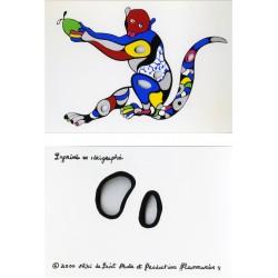 """Niki de Saint Phalle, carte postale sérigraphiée, """"singe offrant"""", 2000"""