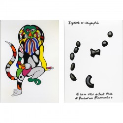 "Niki de Saint Phalle, carte postale sérigraphiée, ""singe roi"", 2000"