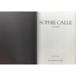 Sophie Calle, A Survey, galerie Fred Hoffman, Santa Monica, 1989