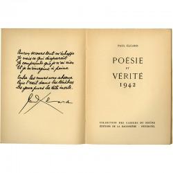 Paul Eluard, Poésie et vérité, éditions de La Baconnière, 1942