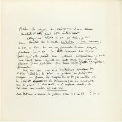 texte manuscrit de Le Corbusier