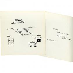 croquis préparatoire de Le Corbusier  pour la construction de l'église de Firminy