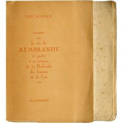 Kees Van Dongen, Rembrandt, Flammarion, 1927