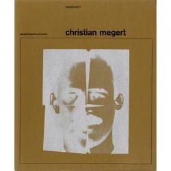 plaquette de Christian Megert, éditée par  (op)Art Galerie, ca. 1966