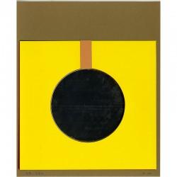 Christian Megert, multiple avec miroir, (op)Art Galerie, ca. 1966