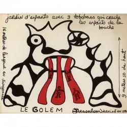 Niki de Saint Phalle, projet pour le Golem, jardin d'enfant, Jérusalem, 1972