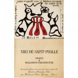 """exposition """"Projets et réalisations d'architecture"""" de Niki de Saint Phalle à la galerie Alexandre Iolas, 1974"""