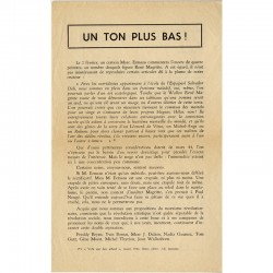 "tract de Tom Gutt  ""Un ton plus bas !"" 1962"
