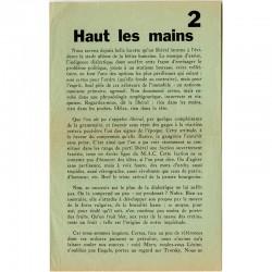 "tract de Tom Gutt  ""Haut les mains"" 1963"