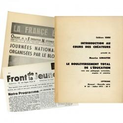 Lettrisme, revue éditée par Maurice Lemaître, Paris, N°23 (juillet 1971)