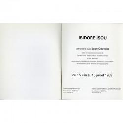 "exposition ""Isidore Isou, Entretien avec Jean Cocteau"", galerie Michel Broomhead,  1989"