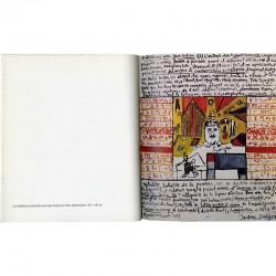 tableau d'Isidore Isou en hommage à Jean Cocteau