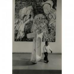 Chapelle Notre-Dame-de-Toute-Grâce au plateau d'Assy, céramique du Passage de la mer Rouge réalisée par Chagall