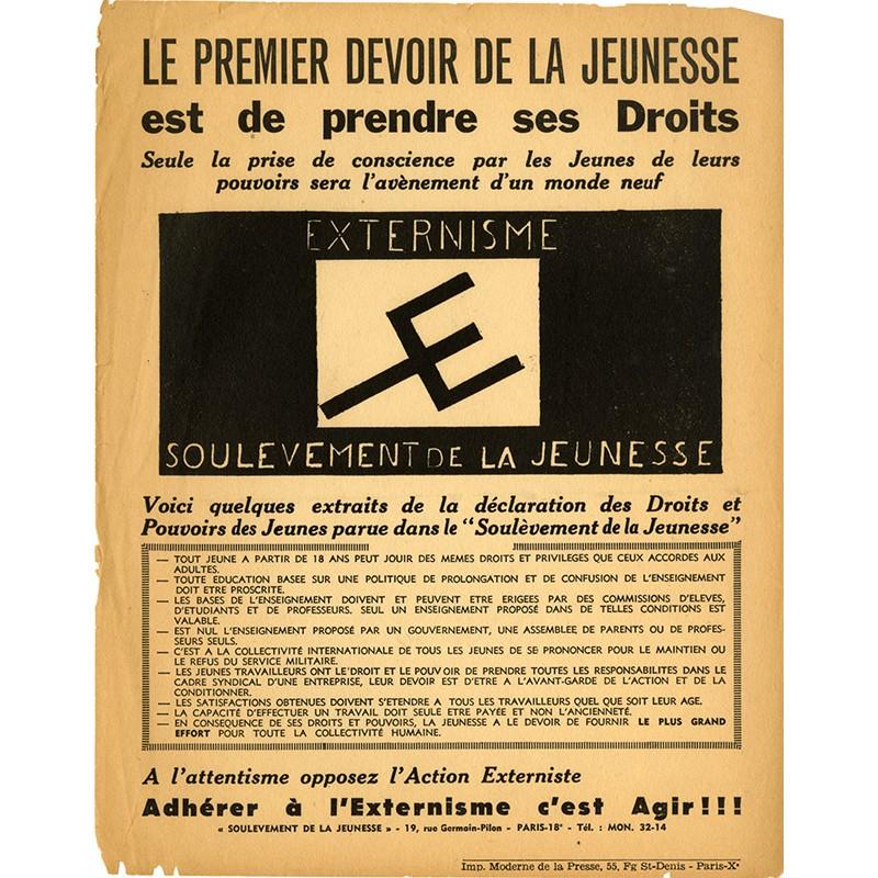 Le premier devoir de la jeunesse est de prendre ses droits, 1953