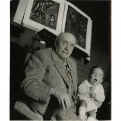 Georges Rouault et un enfant, photographié par la photographe Ina Bandy