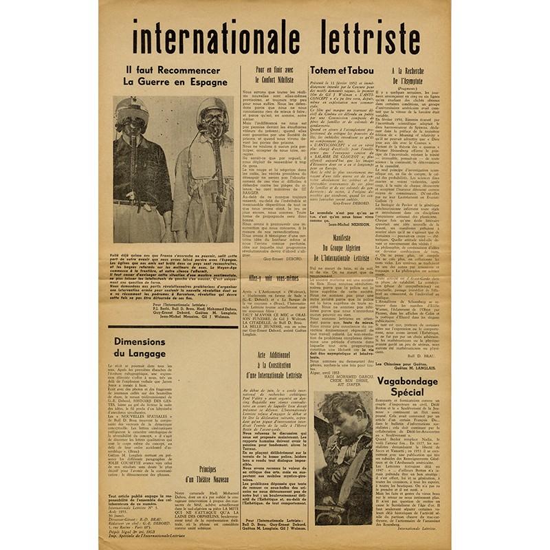 Brau, Debord, Internationale lettriste n°3, août 1953