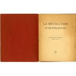 """Pierre Naville """"La Révolution et les intellectuels. Que peuvent faire les surréalistes? Position de la question"""", Paris, 1926"""