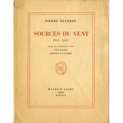 Pierre Reverdy, Sources du vent, Maurice Sachs, Paris, 1929