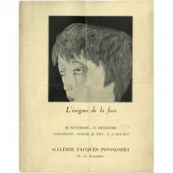 Joseph Sima, L'énigme de la face, 1930