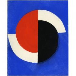 pochoir en 3 couleurs de Sonia Delaunay