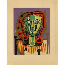Pablo Picasso, lithographie en 12 couleurs imprimée par Mourlot