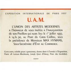 Union des Artistes Modernes (U.A.M), Exposition universelle, 1937