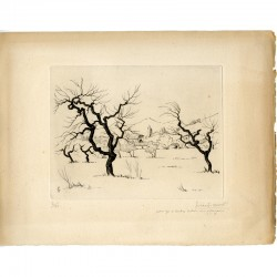 Girard-Mond, Les oliviers en hiver, 1946