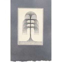 estampe originale sur papier gris de Julio Le Parc, signée et numérotée au crayon