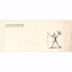 """carton d'invitation pour l'exposition du """"Livre le plus cher du Monde : Don Quichotte"""" illustré par Salvador Dalí"""