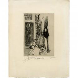 """épreuve d'artiste signée d'une gravure """"La ruelle"""" d'Édouard Goerg, 1932"""