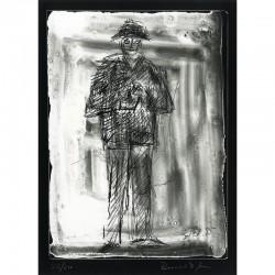 cliché verre de Bernard Dufour, numéroté et signé, 1986