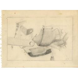 dessin de Michel Tyszblat, mine de plomb, 1975