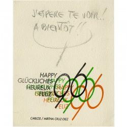 Carlos Cruz-Diez, carte de vœux, 1966