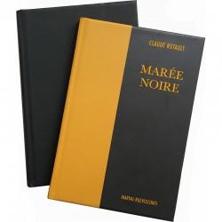 tirage de tête du livre de Claude Rutault, Marée Noire, Marval-rueVisconti, 2021