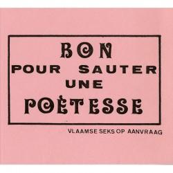 tract sur carton rose édité et distribué par Marcel Mariën, Knokke, 1972