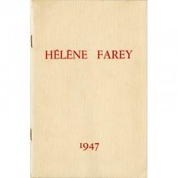 catalogue de l'exposition d'Hélène Farey à la galerie Claude, 1947