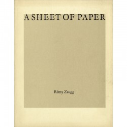 Rémy Zaugg, A Sheet of Paper,  Van Abbemuseum Eindhoven, 1986