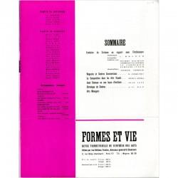 sommaire du n°2 de la revue FORMES ET VIE