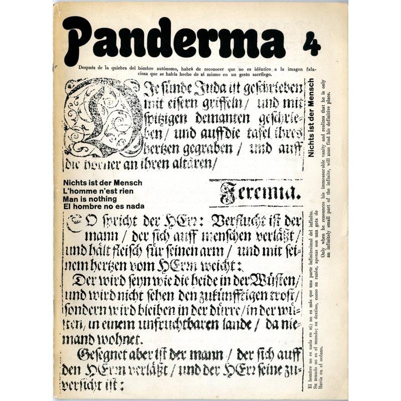 couverture revue PANDERMA, Carl Laszlo