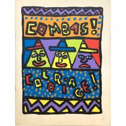 Robert Combas, Coloriages, CAPC Bordeaux, 1985