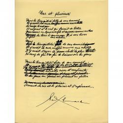 """3 poèmes de Paul Éluard, dans la revue """"Hommage"""" n°2, 1944"""