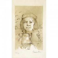 gravure de Leonor Fini, numérotée et signée au crayon par l'artiste, n° 29/187