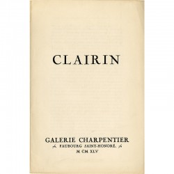 Albert Camus, Clairin, Galerie Charpentier, 1945