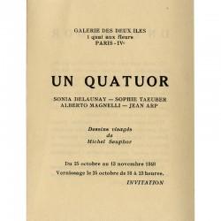 Seuphor, Delaunay, Taeuber, Magnelli, Arp, galerie des Deux Iles, 1948