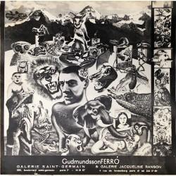 Affiche tenant lieu de catalogue pour deux expositions d'Erró, 1965