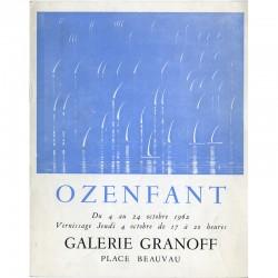 catalogue de l'exposition d'Amédée Ozenfant à la galerie Granoff, à Paris, du 4 au 24 octobre 1962