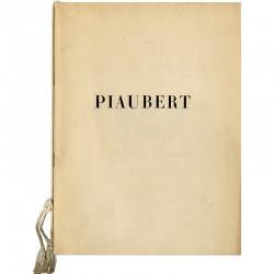 catalogue de l'exposition de Jean Piaubert à la galerie Denise René, à Paris en 1947